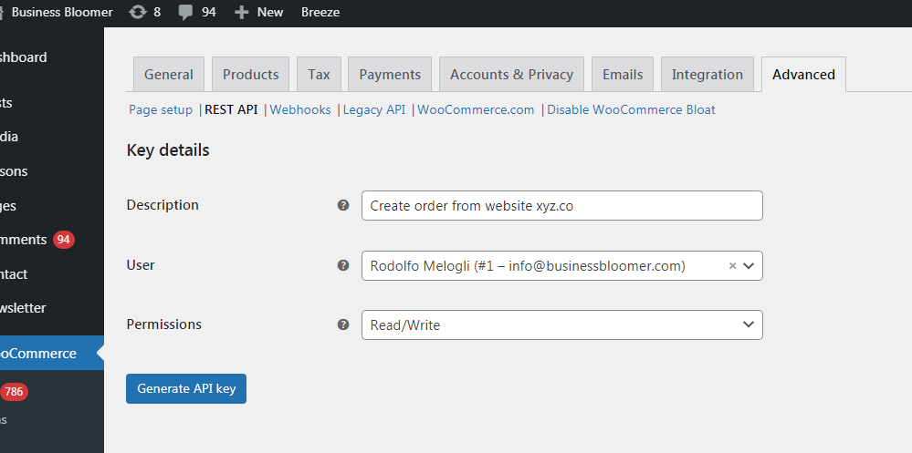 WooCommerce: Create An Order From Another Website!