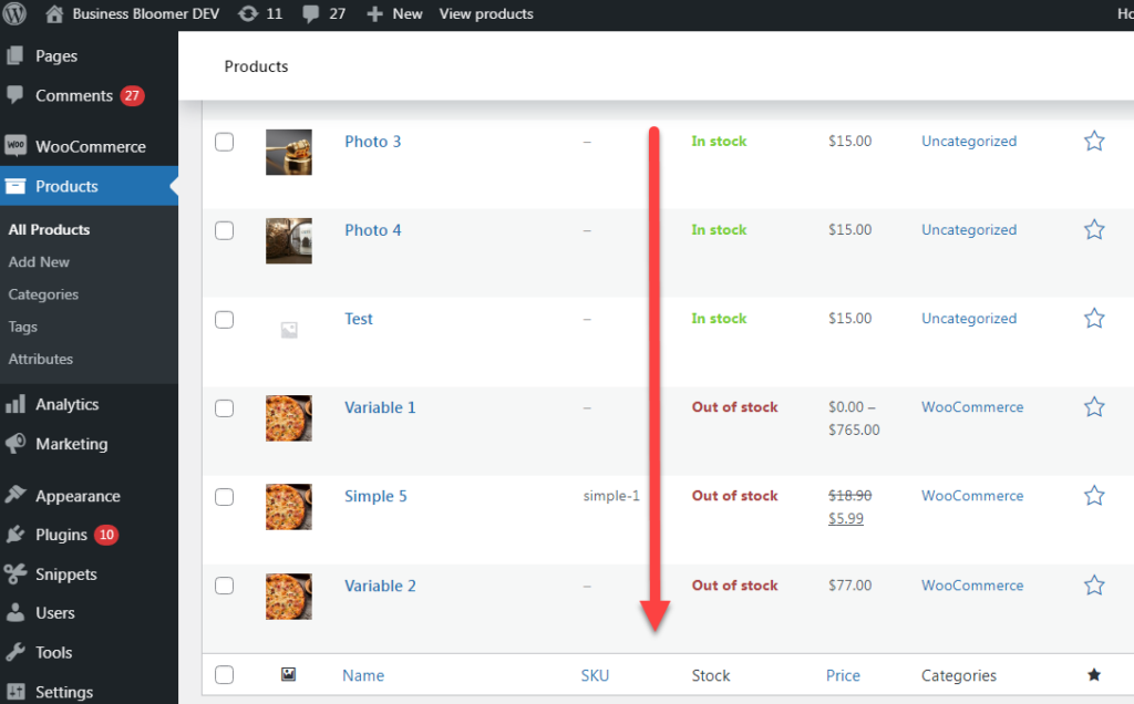 WooCommerce: Sort Products By Stock @ Admin Dashboard