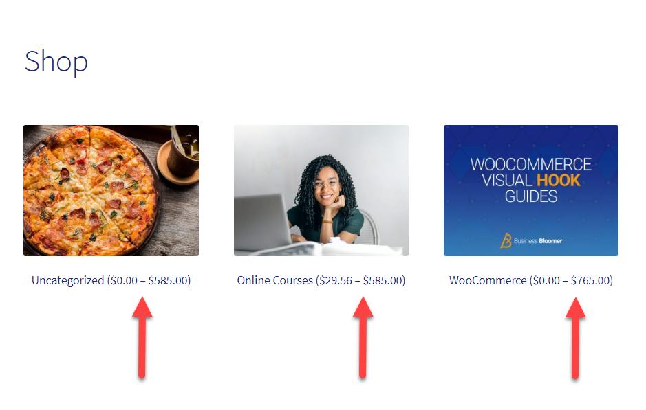 WooCommerce: Product Category Price Range